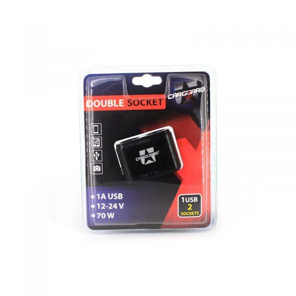 Razdelilec za avto vtičnice (vžigalnik cigaret) 2 + 1A USB
