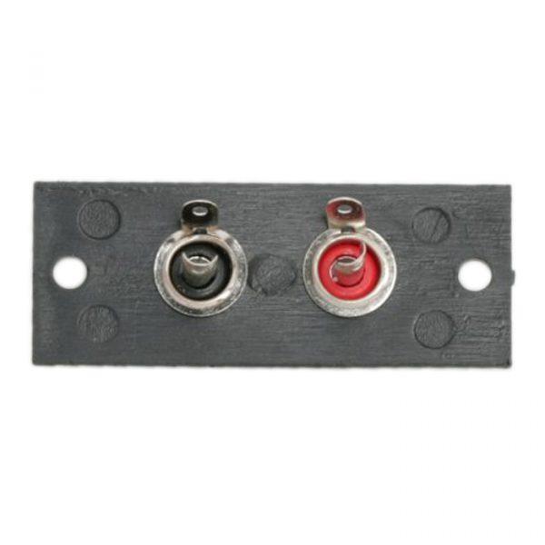 RCA priključna plošča z 2 vtičnicama - vgradna - 50 x 20 mm