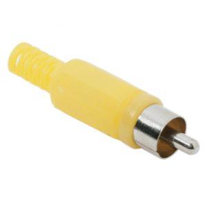 RCA vtič - plastično ohišje - rumen