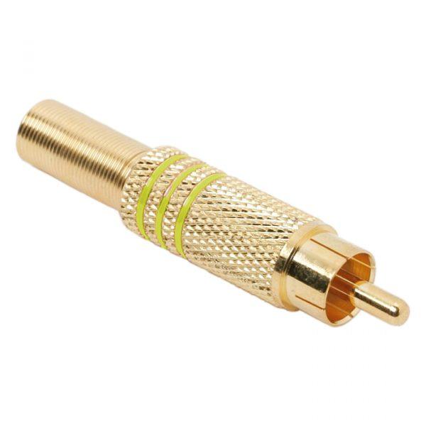 RCA vtič - pozlačen - za max. 6 mm kable