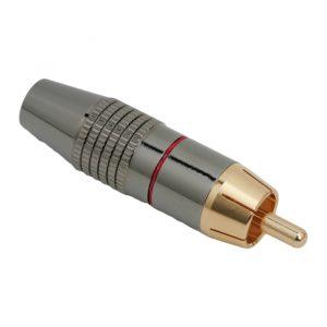 RCA vtič - pozlačeni vtič - za max. 6 mm kable z označevalnim obročem