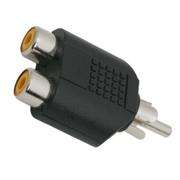 RCA Y-adapter, 2 x RCA vtičnica - RCA vtič