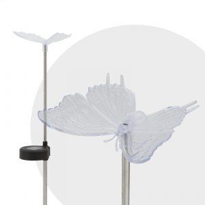 RGB LED solarna svetilka metulj