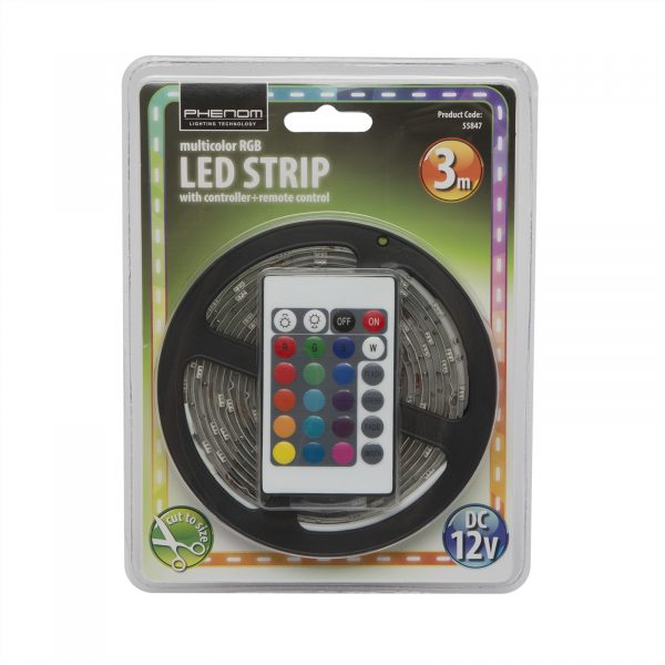 RGB LED trak set 3m z daljinskim upravljalnikom