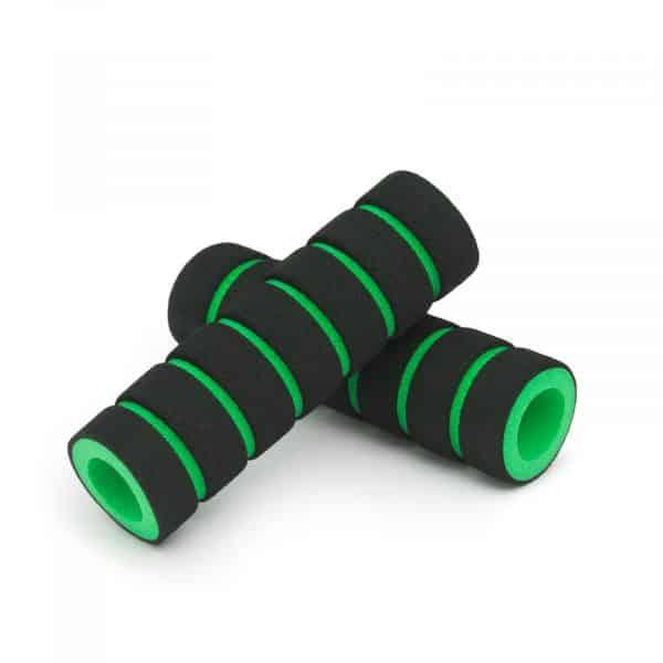 Ročaj za kolo iz pene črno - zelena 110mm