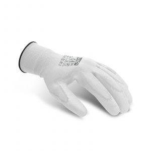 Rokavice za pleskanje v beli barvi - L, 12 parov