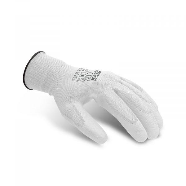 Rokavice za pleskanje v beli barvi - XL, 12 parov