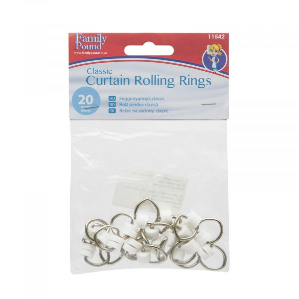 Ščipalke za zavese - klasične, 20 kosov / paket