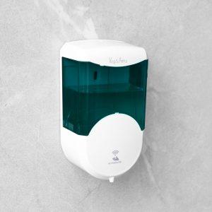 Senzorski dozirnik mila ali antibakterijskega sredstva - 600 ml - stenski - na baterije - v barvi dima