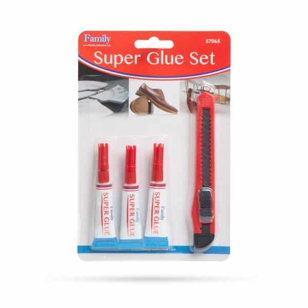 Set 3 sekundnih lepil + olfa nož