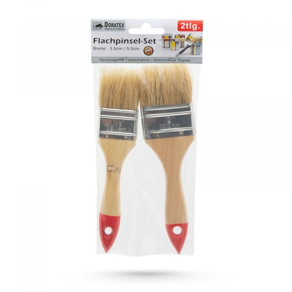 Set čopičev za pleskanje z lesenim ročajem 2 kosa