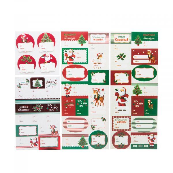 Set darilnih nalepk - božiček - 42 kos