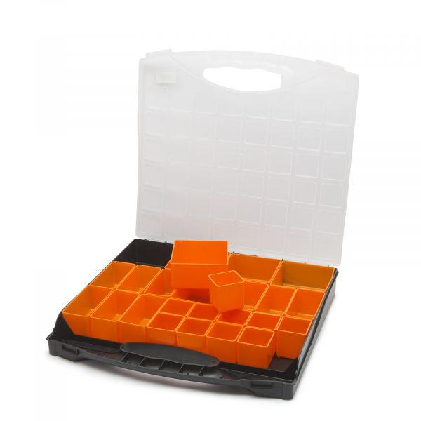 Škatla za shranjevanje iz plastike - 400 x 370 x 58 mm