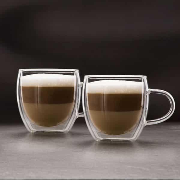 Skodelica za cappuccino z dvojno steno - 250 ml - 2 kos / škatla