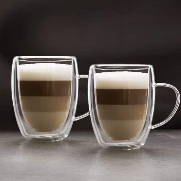 Skodelica za kavo z dvojno steno - 350 ml - 2 kos / škatla