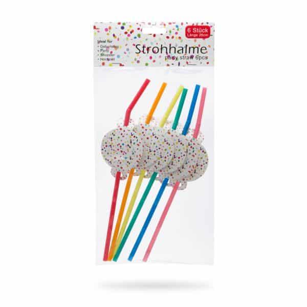 Slamice (pikčaste) - z oznako za ime, barvne - 6 kosov