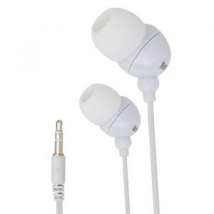 Slušalke s frekvenco 20 - 20 000 Hz - vtič Jack 3,5mm, 1,2 m - bele