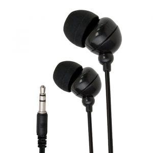 Slušalke s frekvenco 20 - 20 000 Hz - vtič Jack 3,5mm, 1,2 m - črne