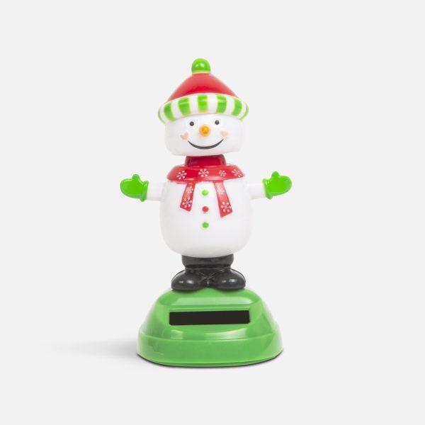 Solarna dekoracija - snežak s kapico - 10 cm
