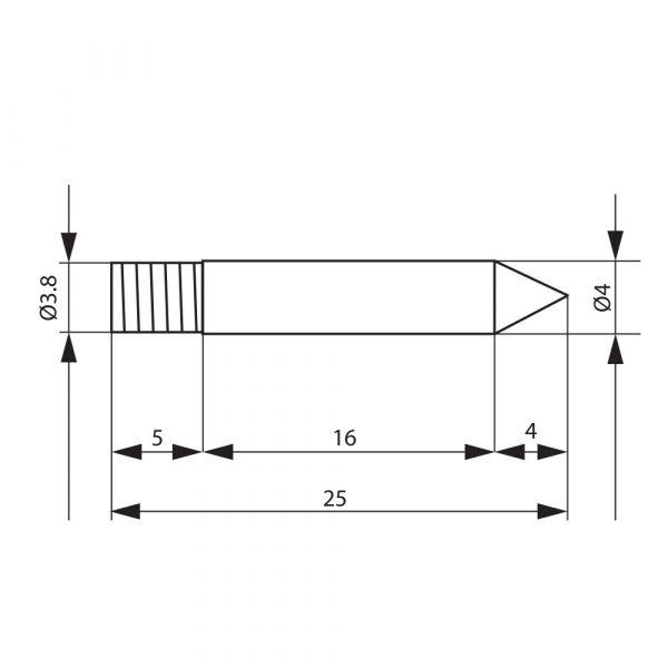 Spajkalna konica za spajkalnik 28019 mala