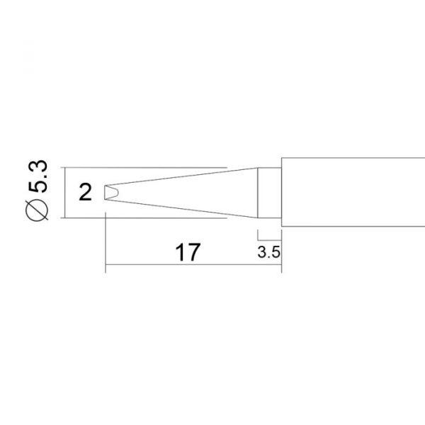 Spajkalna konica za spajkalno postajo 28003 - 2 kos / blister