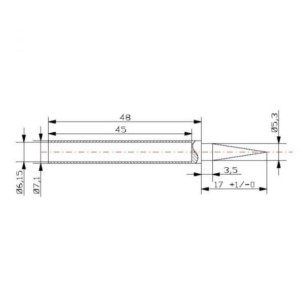 Spajkalna konica za spajkalno postajo 28011 - 2 kos / blister