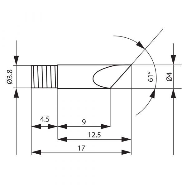 Spajkalna konica za spajkalno postajo 28019 - 2 kos / blister