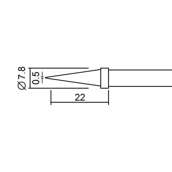 Spajkalna konica za spajkalno postajo 28020 - 2 kos / blister
