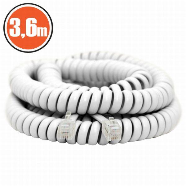 Spiralni telefonski kabel - 4P / 4C - 3,6 m