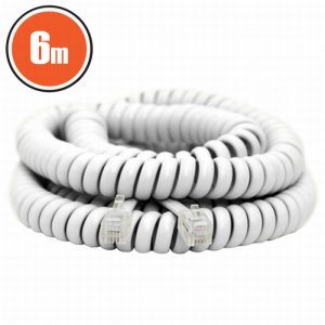 Spiralni telefonski kabel - 4P / 4C - 6 m