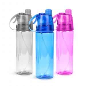 Športna steklenica za vodo z razpršilom - 600 ml - 3 barve