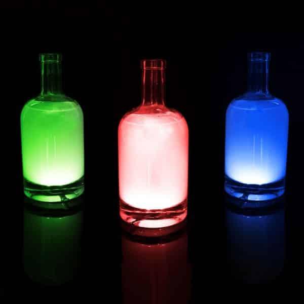 Stekleni LED dekor - samolepilni - 4 kos RGB LED - delovanje na baterije
