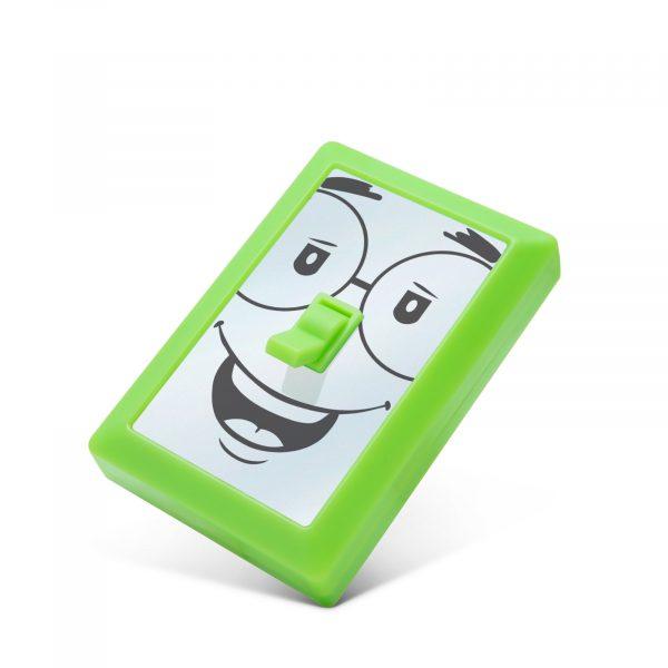 Stenska baterijska otroška svetilka s stikalom - obrazi z magneti