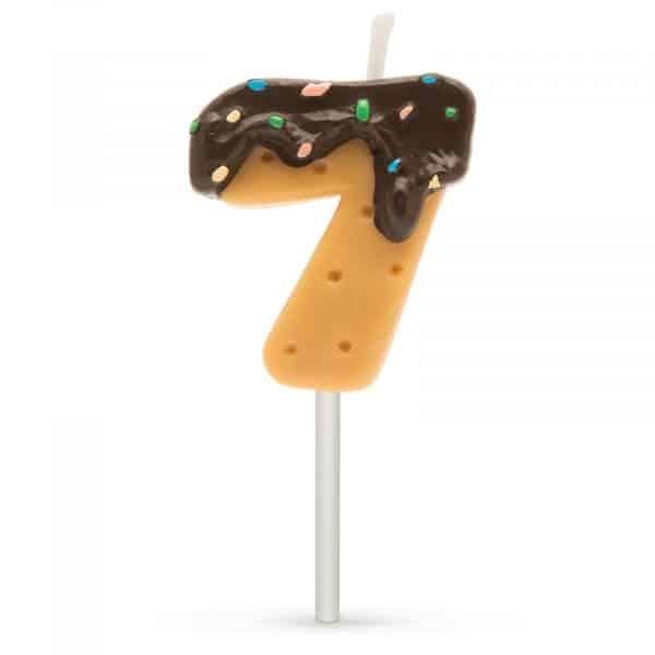 Svečka za na torto v obliki številke 7