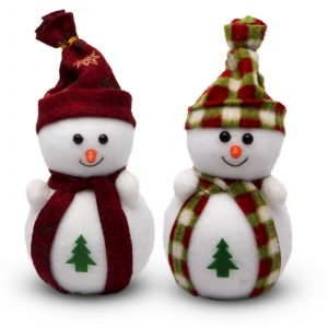 Svetleč snežak iz filca 20 cm