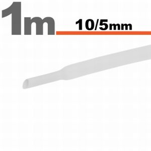 Termoskrčljiva cev - skrčka - bela- 10 / 5 mm