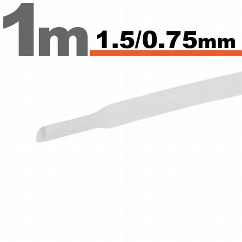 Termoskrčljiva cev - skrčka - bela - 1,5 / 0,75 mm