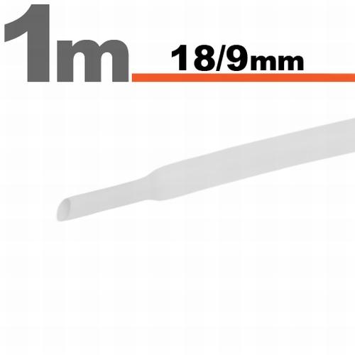 Termoskrčljiva cev - skrčka - bela - 18 / 9 mm