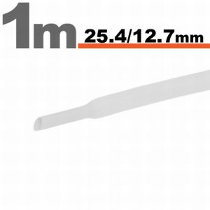 Termoskrčljiva cev - skrčka - bela - 25,4 / 12,7 mm