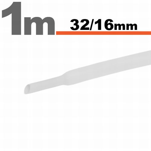 Termoskrčljiva cev - skrčka - bela - 32 / 16 mm