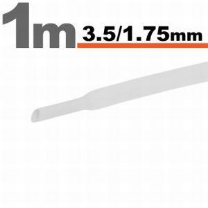 Termoskrčljiva cev - skrčka - bela - 3,5 / 1,75 mm