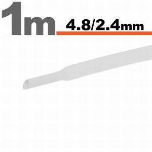Termoskrčljiva cev - skrčka - bela - 4,8 / 2,4 mm