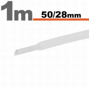 Termoskrčljiva cev - skrčka - bela - 50 / 28 mm