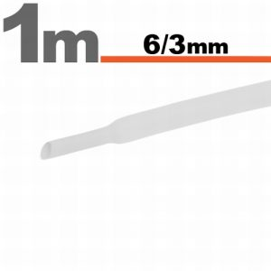 Termoskrčljiva cev - skrčka - bela - 6 / 3 mm