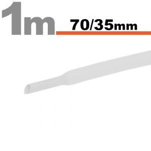 Termoskrčljiva cev - skrčka - bela - 70 / 35 mm