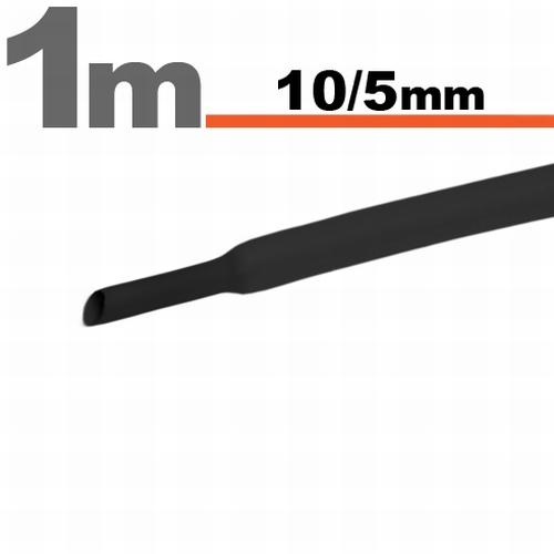 Termoskrčljiva cev - skrčka - črna - 10 / 5 mm