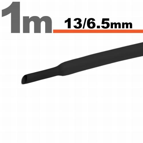 Termoskrčljiva cev - skrčka - črna - 13 / 6,5 mm