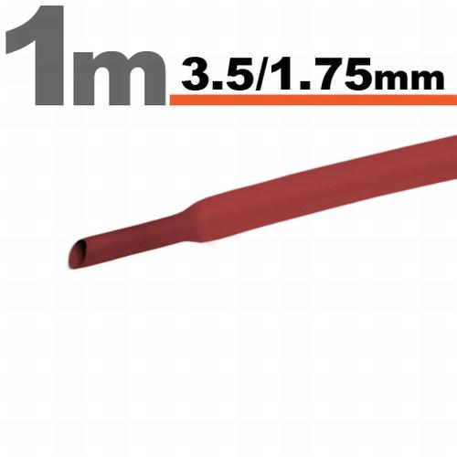 Termoskrčljiva cev - skrčka - črna - 2,5 / 1,25 mm