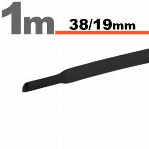 Termoskrčljiva cev - skrčka - črna - 38 / 19 mm