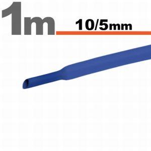 Termoskrčljiva cev - skrčka - modra - 10 / 5 mm